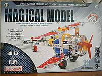 Конструктор Iron Commander 816B-88 металлический Magical Model аэроплан на 190 деталей в коробке 34,5*24*4,5, фото 1