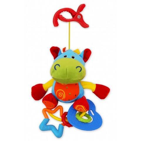 Погремушка с клипсой TE-9687 HIPPO Baby Mix
