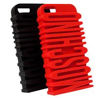 Чехол резиновый 3D Moschino для Apple iPhone 6+/6S plus mix color, фото 1