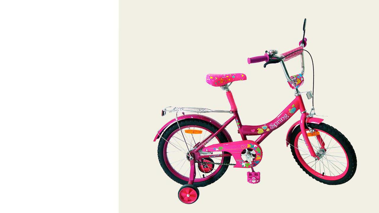 """Велосипед двухколесный 18 дюймов """"Spring"""" со звонком, зеркалом, ручным тормозом"""
