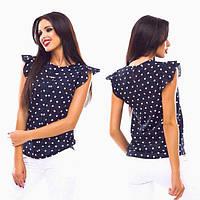 Женская летняя блуза в горошек