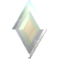 Кристаллы Swarovski для ногтей 2773 Crystal AB 5х3 мм