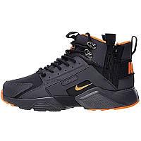 Кроссовки мужские Nike Air Huarache ACRONYM Black Orange
