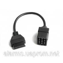 Переходник ГАЗ (Газель, Соболь, Волга) 12 pin на 16 pin OBD2