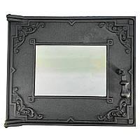 Дверца чугунная стекло для духовки 454*385 мм (вес - 15 кг)