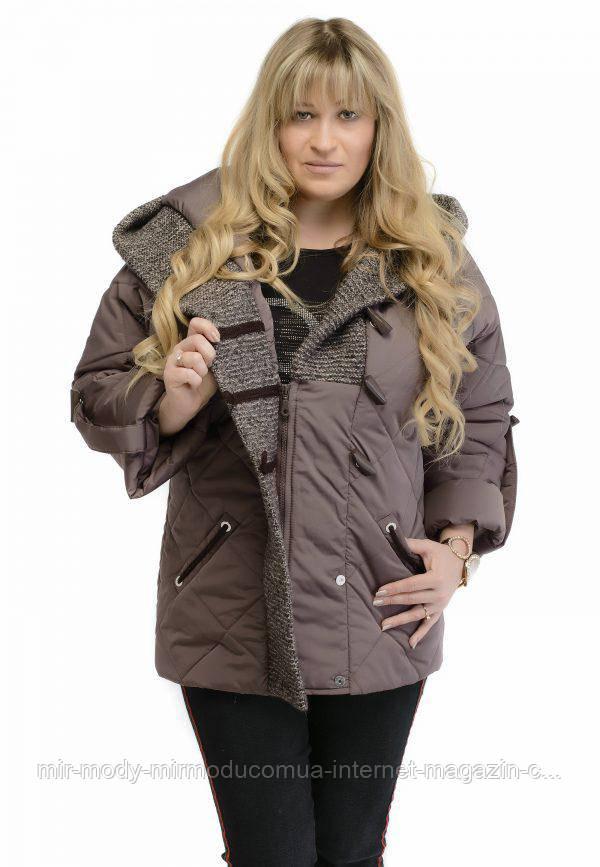 Куртка женская весенняя MILANA (цвет шоколад)  с 46 по 56 размер vicco
