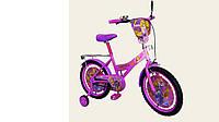 """Велосипед двухколесный 18 дюймов """"Рапунцель"""" со звонком, зеркалом, ручным тормозом"""