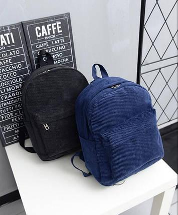 Молодежные вельветовые рюкзаки унисекс, фото 2