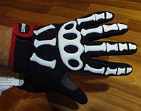Перчатки зимние Skeleton размер М скелетоны спорт рукавицы мото вело рукавички велоперчатки весенние осенние