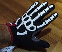 Перчатки зимние Skeleton размер L скелетоны спорт рукавицы мото вело рукавички велоперчатки весенние осенние