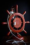 "Настільна лампа "" Штурвал з кораблем "", фото 2"
