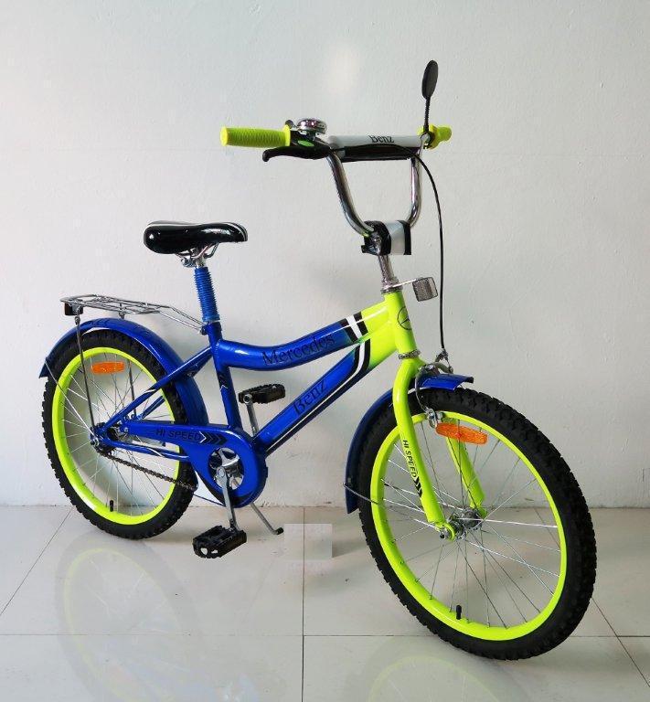 """Велосипед двухколесный 18 дюймов """"Mercedes-Benz"""" со звонком, зеркалом, ручным тормозом"""