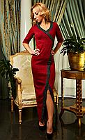 Шикарное трикотажное вечернее платье