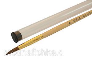 Кисть для акрила с прозрачной ручкой и деревянной ручкой № 8 YRE
