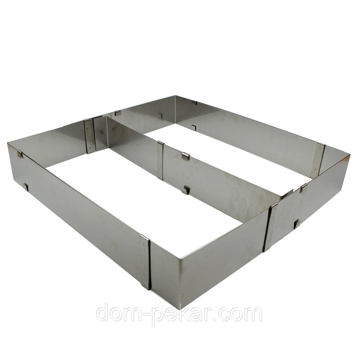 Рамка кондитерская раздвижная Прямоугольная Н=8,5см с перегородкой
