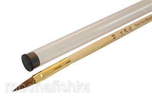 Кисть для акрила с прозрачной ручкой и деревянной ручкой № 10 YRE
