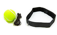 Теннисный мяч на резинке боксерский Fight Ball 6730 с повязкой на голову (пневмотренажер)