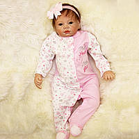 22inch Reborn Baby Girl Кукла Силиконовый Handmade Girl Lifelike Play House Toy