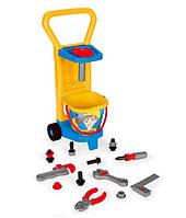 Детский игровой набор с тележкой 10776 Маленький механик