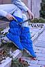 Тапочки сапожки Бантик ярко синие
