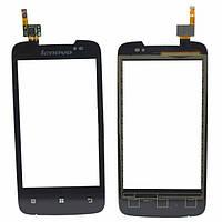 Сенсорний екран для мобільного телефону Lenovo A390, чорний