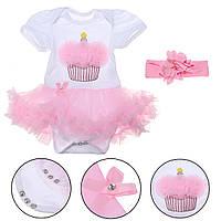 Розовый Кружева Платье Девочка Baby Смазливая одежда Набор для 22inch Baby Reborn Кукла