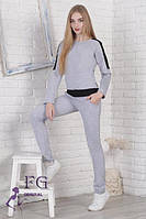 Серый спортивный костюм с кофтой