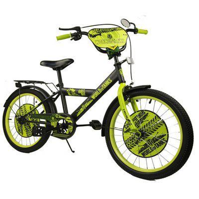 """Велосипед двухколесный 18 дюймов """"World of Tanks"""" со звонком, зеркалом, ручным тормозом"""