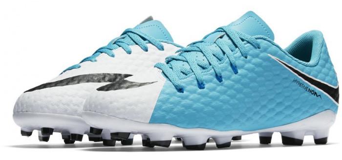Детские футбольные бутсы Nike JR Hypervenom Phelon 3 FG 852595-104