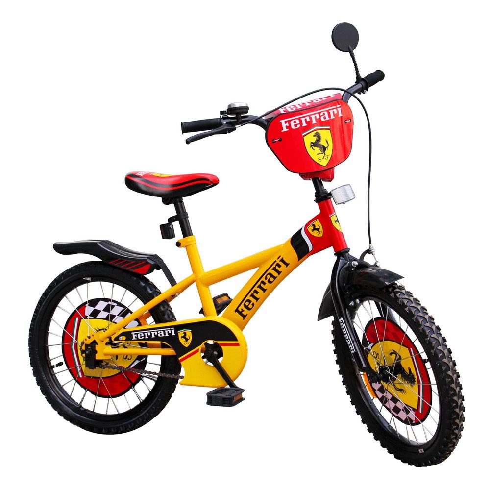 """Велосипед двухколесный 20 дюймов """"Ferrari"""" со звонком, зеркалом, ручным тормозом"""