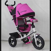Детский Трехколесный велосипед T- 1 Air CROSSER,Надувные колеса+Фара