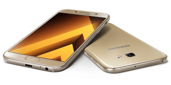 """Смартфон Samsung A520F Galaxy A5 2017 (SM-A520FZKD) Gold, 3/32Gb, 8 ядер, 16/16Мп, 5.2"""", 2 sim, 4G, 3000мАh."""