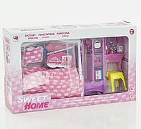 Мебель для куклы, набор кукольной мебели на батарейке, в коробке
