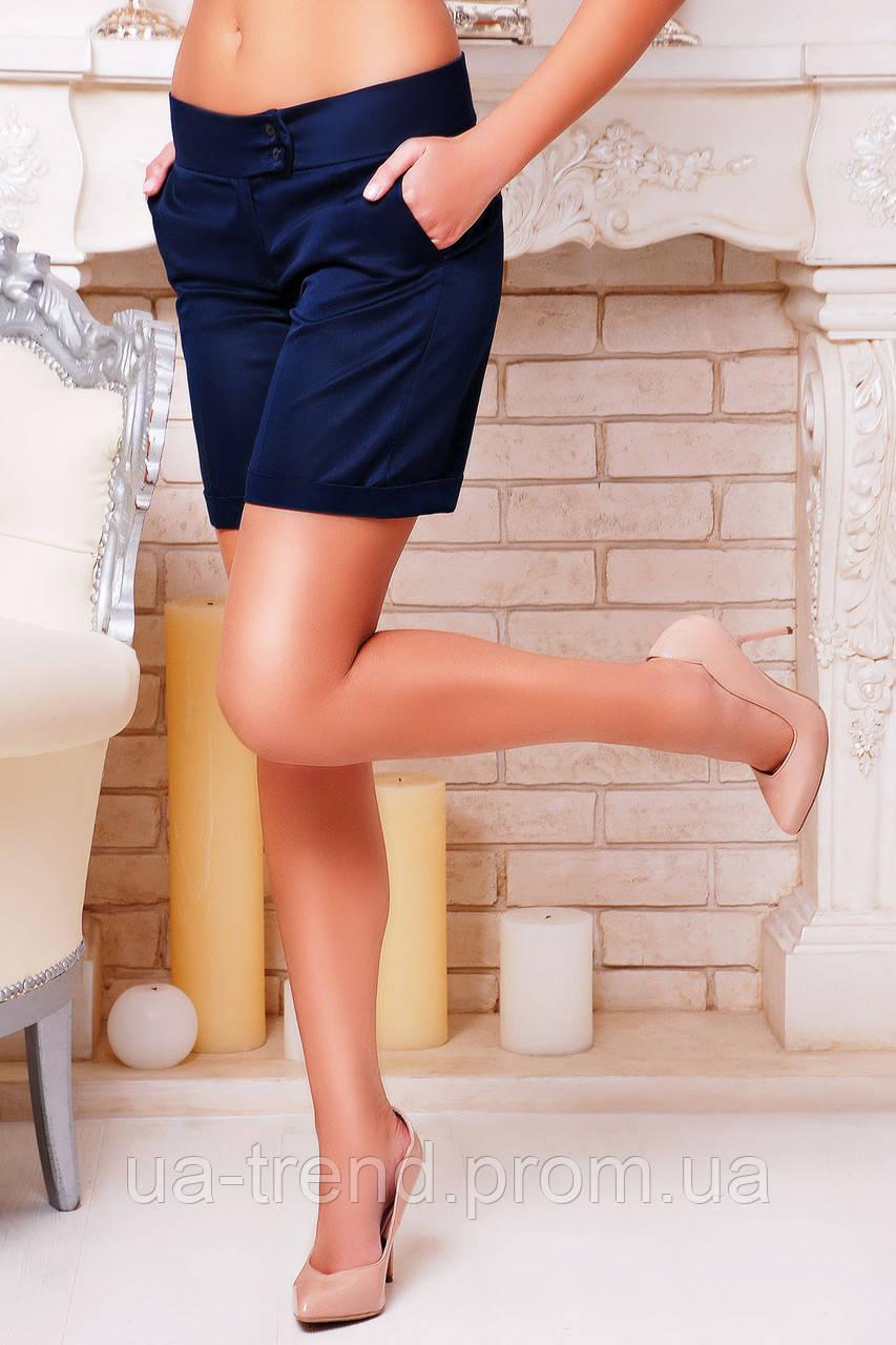 Подовжені жіночі шорти з підворотом