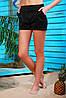 Женские молодежные шорты черного цвета