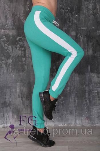 Женские штаны мятного цвета