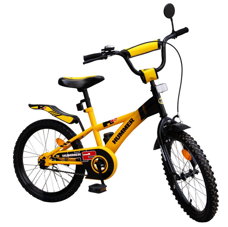 """Велосипед двухколесный 20 дюймов """"Хаммер"""" со звонком, зеркалом, ручным тормозом"""