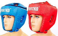 Шлем боксерский открытый Sportko OD1 (шлем для бокса): 2 цвета, размер L