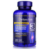 Puritans Pride Double Strength Glucosamine, Chondroitin & MSM 240 caplets