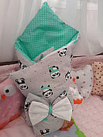 Двухсторонний конверт-одеяло для новорожденных ТМ Добрый сон