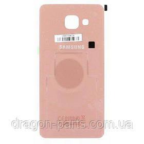 Задняя крышка стеклянная Samsung A510 Galaxy A5 2016 розово-золотая оригинал, GH82-11300D