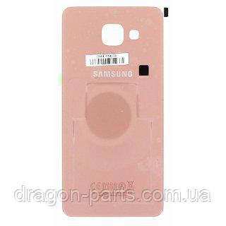 Задняя крышка стеклянная Samsung A510 Galaxy A5 2016 розово-золотая оригинал, GH82-11300D, фото 2