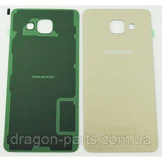 Задняя крышка стеклянная Samsung A510 Galaxy A5 2016 золотая gold оригинал, GH82-11300A