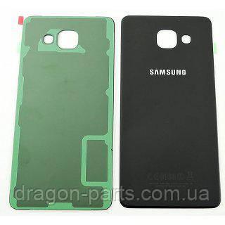 Задняя крышка стеклянная Samsung A510 Galaxy A5 2016 Черная Black оригинал, GH82-11300B