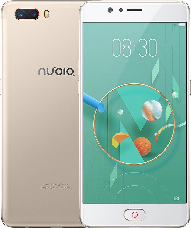 """Смартфон ZTE Nubia M2 4/64Gb Gold, 8 ядер, 13+13/16Мп, 5.5"""" IPS, 4G, 3630 мАч, Snapdragon 625"""