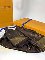 Шаль Louis Vuitton MONOGRAM SHINE коричневая, фото 1