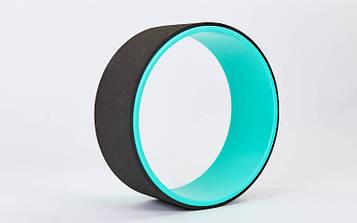 Колесо-кільце для йоги Fit Wheel Yoga (PVC, TPE, р-р 32х13см)