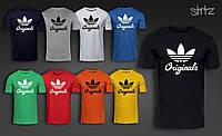 Брендовая футболка спортивная на парня адидас ориджинал Adidas Originals