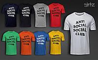 Летняя оригинальная футболка мужская с принтом анти социал социал клаб Anti Social Social Club