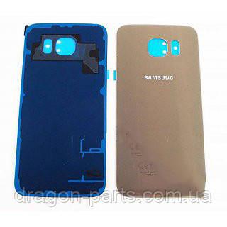 Задняя крышка стеклянная Samsung G920FD Galaxy S6 золотая gold оригинал, GH82-09994C
